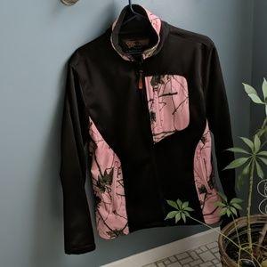 EUC Pink Forest Camo Soft Shell Jacket